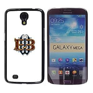 Be Good Phone Accessory // Dura Cáscara cubierta Protectora Caso Carcasa Funda de Protección para Samsung Galaxy Mega 6.3 I9200 SGH-i527 // brand letters calligraphy initials white