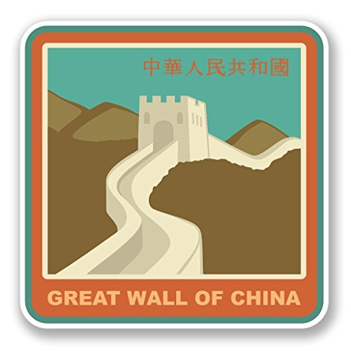 2 x 15cm/150mm Great Wall of China Vinyl Sticker Decal Laptop Travel Luggage Car iPad Sign Fun #4215