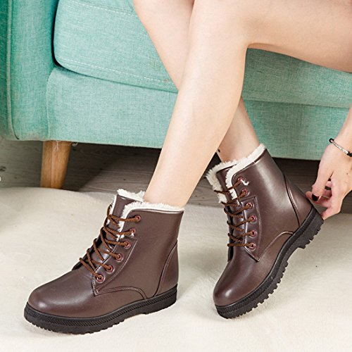 Up Girls Waterproof O Outdoor Women Lace Winter ON Boot Shoes Snow amp;N Martin Brown Boots nqF4AWqwX