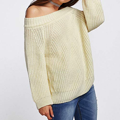 Femme Epaule Sexy Tricot Chandail D Chic Pull dqXAtwx