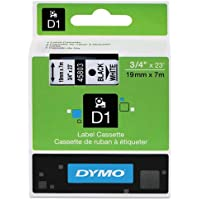 Genuine DYMO 3/4 (18mm) Black on White D1 Label Tape for Electronic Dymo LabelManager 450 Label Maker