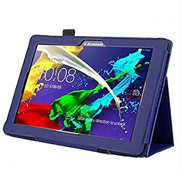Cover for Lenovo Tab 2 A10-70F 10.1 Inch Smart Slim Case Book Cover Stand Flip A10-70L (Blue) New