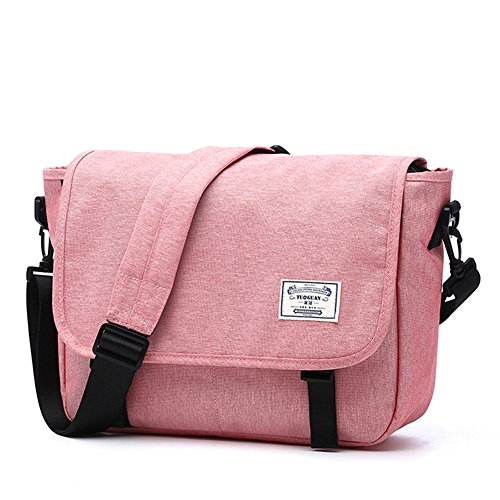 LYCSIX66 Classic Laptop Messenger Bag, Water Resistant Canvas School Satchel Shoulder Bags Fits MacBook Pro 13 / 13.3 Inch Notebook Computer, (Classic Laptop Messenger)
