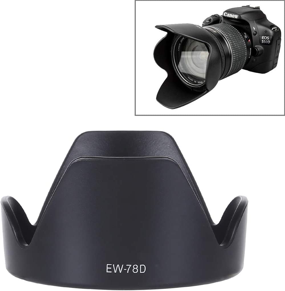 Ychaoya Camera Lens Accessories EF 28-200mm f//3.5-5.6 is Lens Black EW-78D Lens Hood Shade for Canon EF 28-200mm f//3.5-5.6 USM