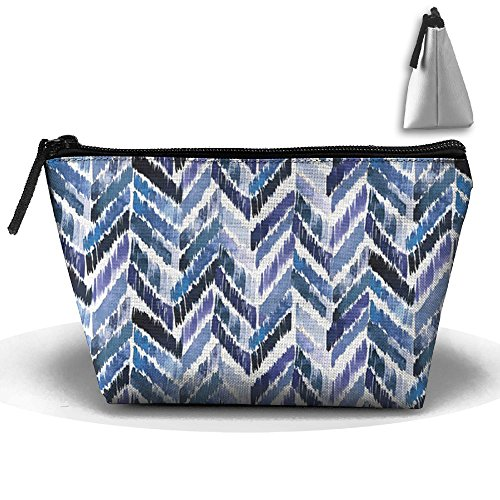 Indigo Lightweight Tote (Tropical Ikat Indigo Pencil Case Stationery Bag Cosmetic Bag Cosmetic Bag Storage Bag)
