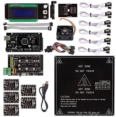 Controller Reprap Prusa i3 MK2B Heatbed 3D Printer Kit Ramps 1.4 2004 LCD
