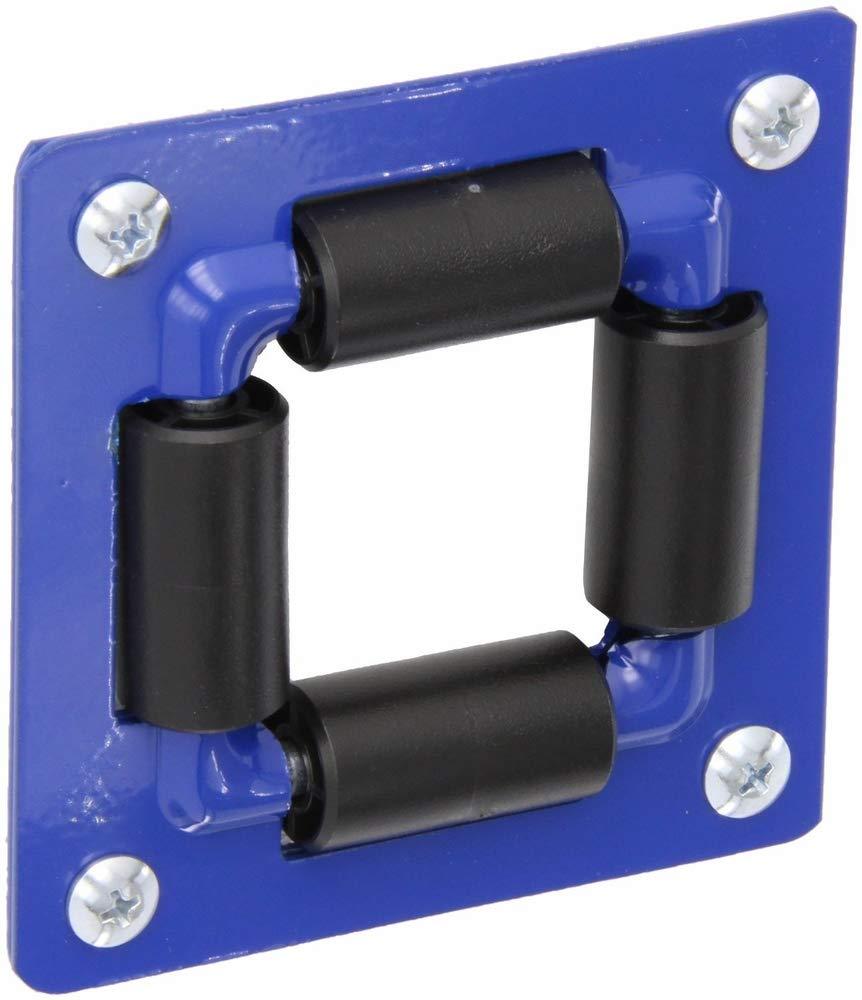 "Coxreels 4RB Heavy Gauge Powder Coated Steel 4-Way Roller Bracket, 1/4""-3/4"" Size, Blue"