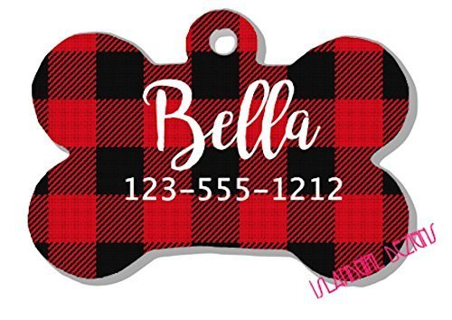 Buffalo Plaid Pet ID Tag