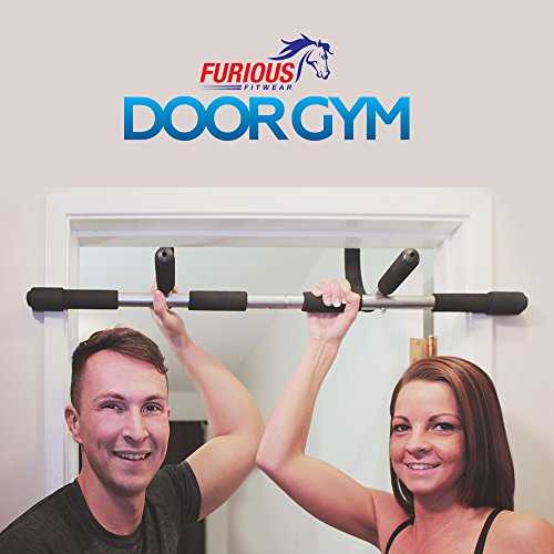 Furious Fitwear Door Pull up Bar for Doorway or Doorframe Pull up and Chin up Exercises Portable Heavy Duty Iron Pull ups Gym for Men & Women for Perfect Home and Travel Fitness