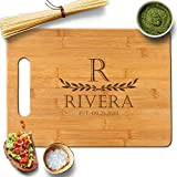 Froolu Two Leaves large Bamboo cutting board for First Time Home Owners Housewarming Gifts