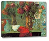 """This 16"""" x 20"""" premium giclee canvas art print of The White Bowl by Paul Gauguinis created on the finest quality artist-grade canvas, utilizing premier fade-resistant archival inks that ensure vibrant lasting colors for years to come. Every detail o..."""