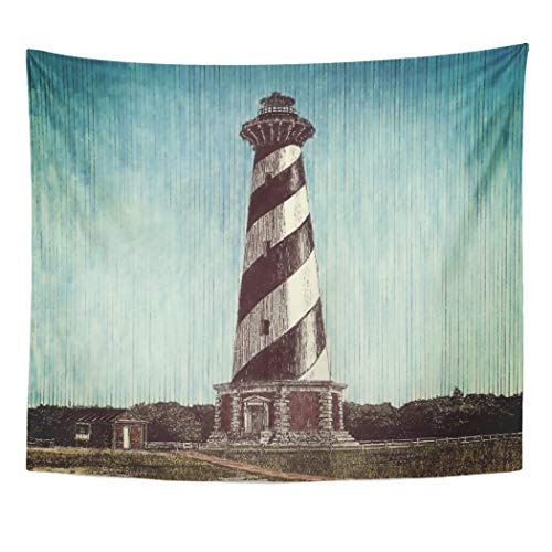 - Semtomn Tapestry Artwork Wall Hanging Ocean Cape Hatteras Lighthouse Beach Outer Banks North Carolina 50x60 Inches Home Decor Tapestries Mattress Tablecloth Curtain Print