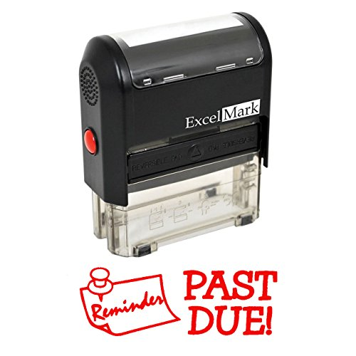 (Reminder Past Due - Self Inking Bill Collection Stamp in Red Ink)