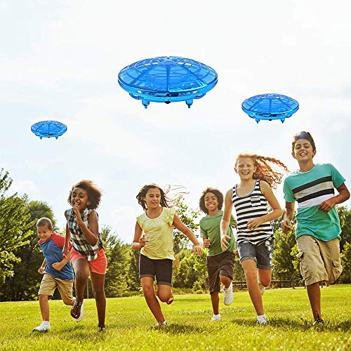 zerkar Flying Ball Mini Drone Toy Hand-Controlled Drone 360° Rotating and Shinning LED Lights Flying Toys Interactive Infrared Induction Helicopter Ball for Boys and Girls Kids Gifts (Blue) by zerkar (Image #6)
