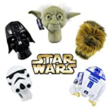 Star Wars Golf Head Cover Collector Series Hybrid Set (Yoda, Darth Vader, Chewbacca, R2D2, Storm Trooper), Outdoor Stuffs