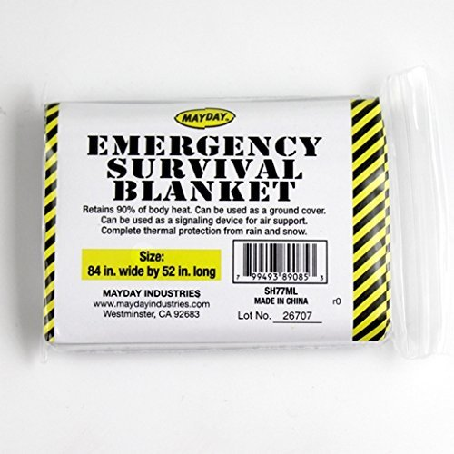 Emergency Survival Solar Blanket - 1 Person by Mayday Industries