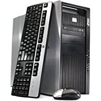 Refurbished - HP Z800 Workstation Desktop - 96GB DDR3 RAM, 2x 480GB SSD (960GB Total), 2x Intel Xeon Quad Core E5620 2.4GHz (8 Cores Total), WIFI, Quadro 400, Windows 7 Pro 64-bit (by RefurbTek)