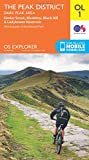 OS Explorer OL1 The Peak District, Dark Peak area (OS Explorer Map)