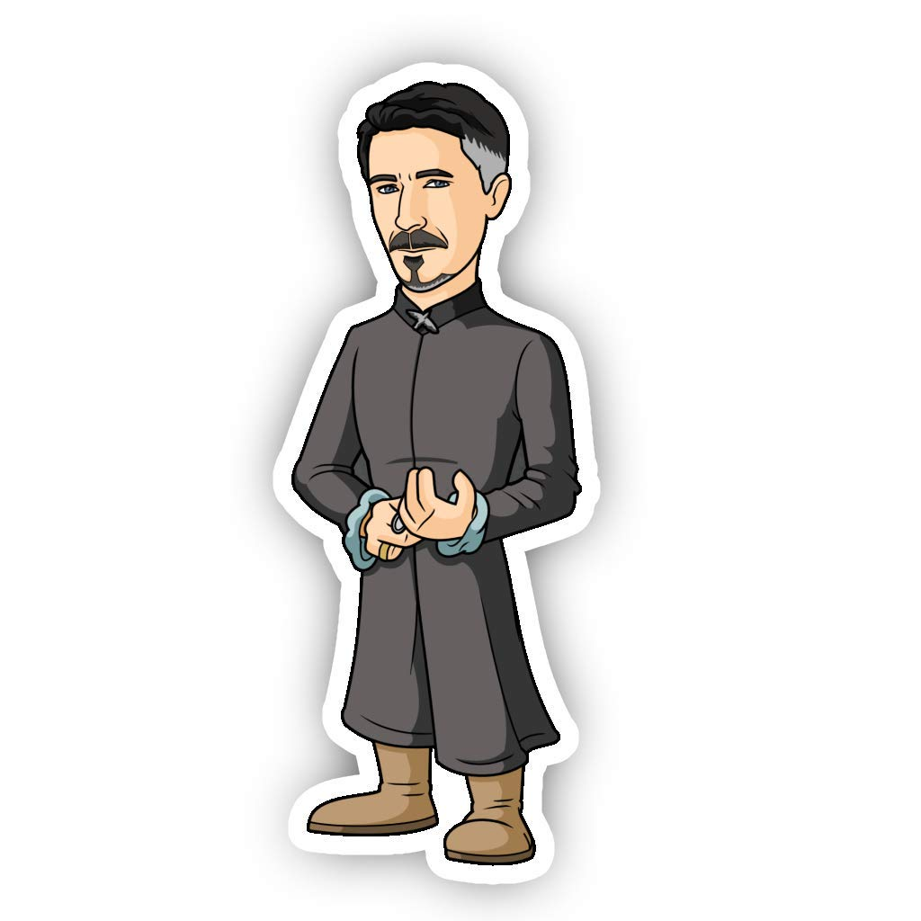 GOT Petyr BaelishLittlefinger Cartoon Vinyl Sticker