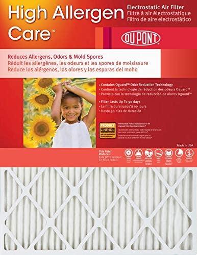 [해외]14x18x1 (Actual Size) DuPont High Allergen Care Electrostatic Air Filter (2 Pack) / 14x18x1 (Actual Size) DuPont High Allergen Care Electrostatic Air Filter (2 Pack)