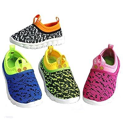 RVROVIC Kids Boys Girls Shoes Flats Breathable Mesh Slip-on Sneaker For Walking Running