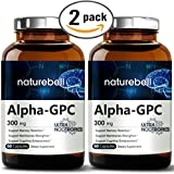 Alpha GPC Choline Supplement, 600mg Per Serving, 60 Capsules, Powerfully Enhances Memory Function & Strengthens Membranes. Pharmaceutical Grade, Non-GMO, Soy-Free and Made in USA. (2 Pack)