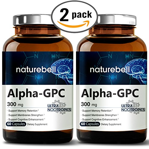 Alpha Gpc Choline Supplement  600Mg Per Serving  60 Capsules  Powerfully Enhances Memory Function   Strengthens Membranes  Pharmaceutical Grade  Non Gmo  Soy Free And Made In Usa   2 Pack