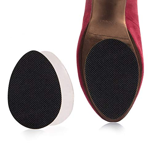 Anti Slip Shoe Pads, 16 Pairs Non-Slip Self-Adhesive Stick Pad for Shoes Sole Protector Grips, Black