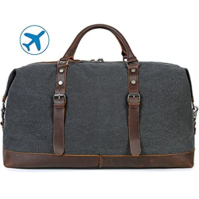 Beeaoo Overnight Weekender Bag Vintage Canvas Travel Duffel Bags,Carry On Bag  for Men and 5aefc52992