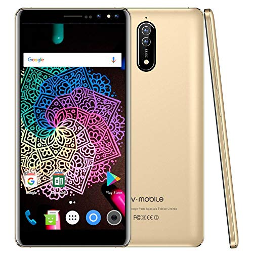 V Mobile N8 Dual SIM Unlocked Cell Phones, 5.5 inch HD, Quad Core 16GB ROM, Android 8.0, 8MP Camera Unlocked Smartphone…