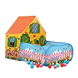 YGJT Play Tent kids Durable Anti Flaming Garden Play House Tent Playhouse Gift Box Girls Boys Indoor Outdoors-43.3x59x35.4inches Toys 3 years Old Child