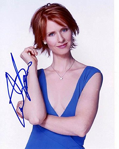 (Sex Cynthia Nixon Autographed Signed Sexy Photo & Proof AFTAL)