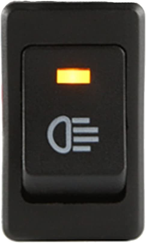 E Support Kfz Auto Boot Kippschalter Druckschalter Schalter 12v Gelb Led Licht Nebelscheinwerfer Auto