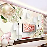 LHDLily 3D Wallpaper Mural Wall Sticker Thickening Rose Stereo Box Tv Background Wall For Living Room Wall Papers Home Decor 300cmX200cm
