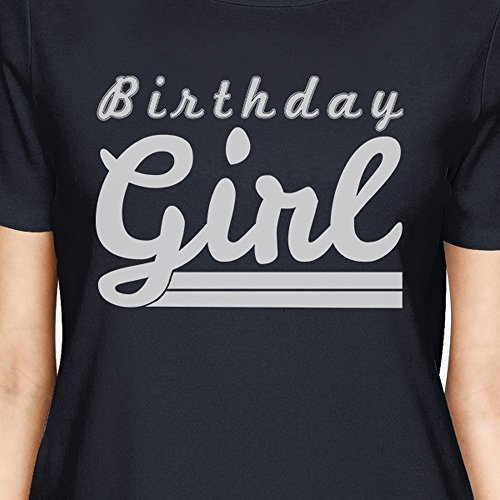 Taglia a Birthday donna shirt Navy unica da manica Girl 365 Stampa T corta OH844