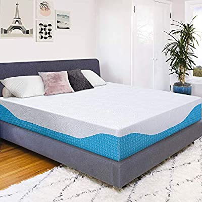 PrimaSleep 12 Inch Multi-Layered I-Gel Infused Memory Foam Mattress