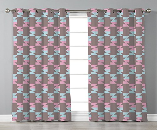iPrint Stylish Window Curtains,Geometric,Abstract Graphic Arrow Design Striped