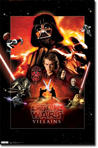 Star Wars Saga Villains Movie Poster 22x34