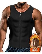 Yokald mannen sauna zweet rits vest voor gewichtsverlies hete neopreen korset taille trainer body top shapewear afslanken shirt training pak