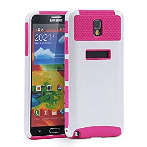 Generic, Note 3 Case, Galaxy Note 3 Case, [2 in 1] [PC + TPU] Hybrid Cover [Shock Proof] for Samsung Galaxy Note 3 N9000 , White&Rose Red
