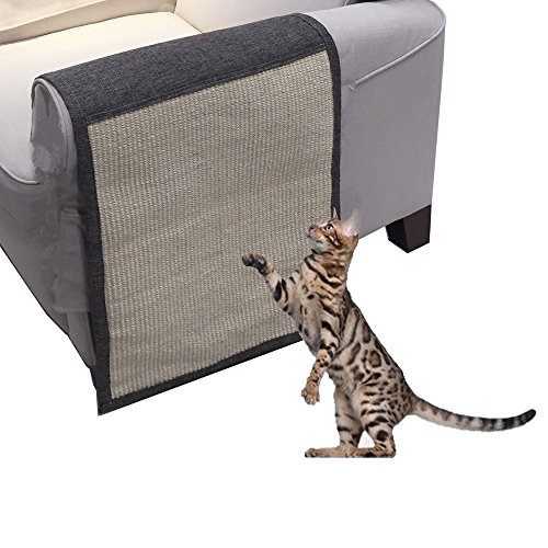 Yohoz Cat Scratch Mat, Deluxe Cat Scratcher Pet Supplies Pet Furniture Cover Sofa Pad Shield - Cat Scratch Pads Washable and Durable Protect the Sofa to Prevent Furniture Scratching ()