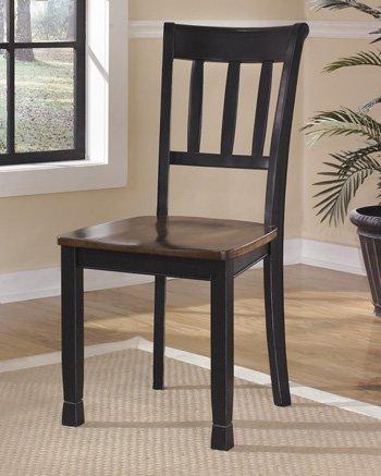Ashley Furniture Signature Design Owingsville Dining Room Side Chair  Black Brown  Set Of 2