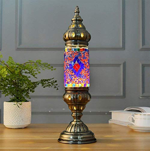 Cafe Ottoman - Handmade Turkish Lamp Moroccan Ottoman Style Mosaic Home Retro Table Light Bedroom Restaurant Cafe Decoration Lamp [Energy Class A],A