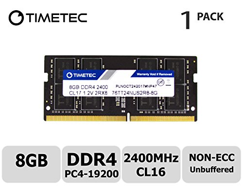 Timetec Hynix IC 8GB DDR4 2400MHz PC4-19200 Unbuffered Non-ECC 1.2V CL16 1Rx8 Single Rank 260 Pin SODIMM Laptop Notebook Computer Memory RAM Module Upgrade (8GB) - Non Ecc Unbuffered Sodimm Memory