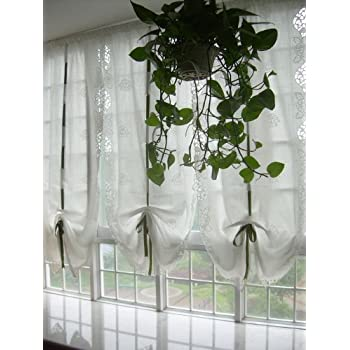 Diaidi white cafe sheer curtain shabby chic living room window sheer curtain for Balloon curtains for living room