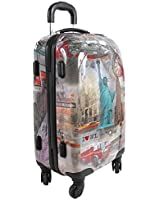Nicole Lee Kiswa 21 Inch Rolling Abs Hard Case Carry-On
