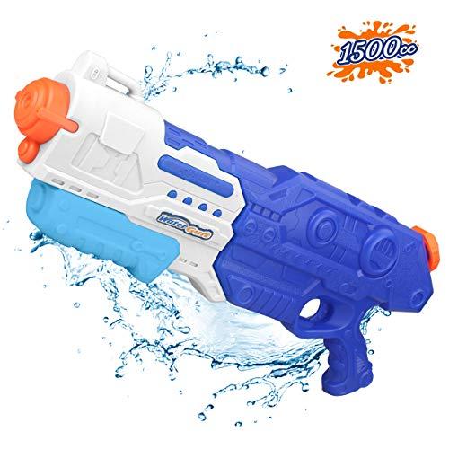 Water Guns Water Blaster Toy High Capacity 1500CC Long Range Squirt Guns Bulk Super Soaker Summer Water Shooter Fighting Games Gun Swimming Pool Beach Party Favors Toy for Boys Girls Adults Kids