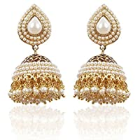 Shining Diva Stylish Traditional Jhumki Earrings For Women & Girls