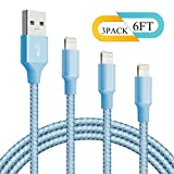 good apple charger - Lightning Cable BUDGET & GOOD iPhone Charger Cable 3 Pack 6FT Long Charger Cord Fast Charging Cable Charger for iPhone iPad iPod Air Nano Touch Blue