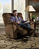 Simmons Upholstery Aegean Heat and Massage Rocker Recliner, Chocolate